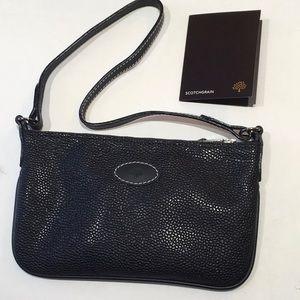 NEW Mulberry Scotchgrain Black Mini Handbag
